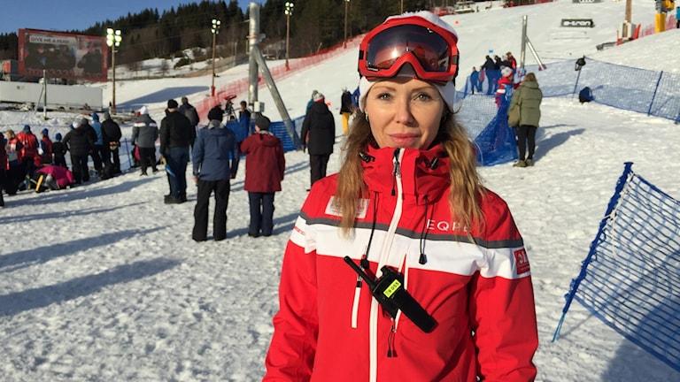 Lisa Ek, distriktsläkare på hälsocentralen i Åre och ansvarig läkare på VM Åre.