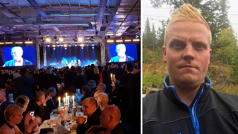 Guldgalan 2017 Östersund montage festmiddag och pristagaren Pontus Nilsson