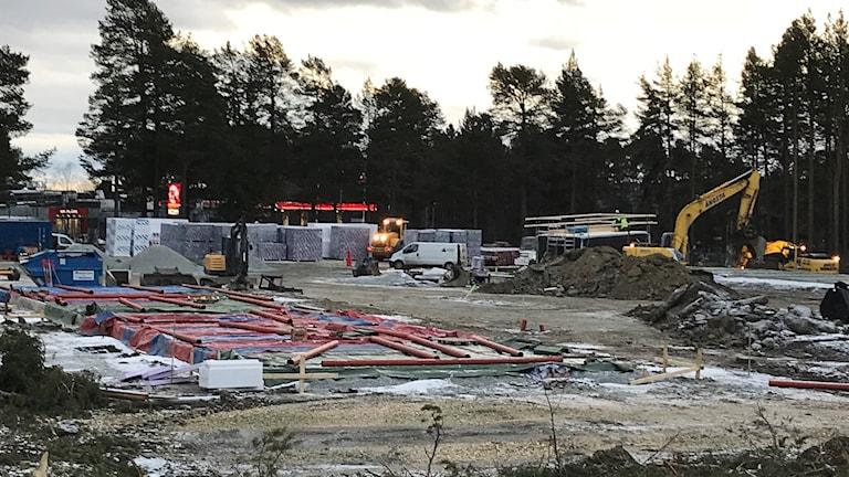 Bostadsbygge vid korsningen Rådhusgatan - Krondikesvägen i  Östersund.
