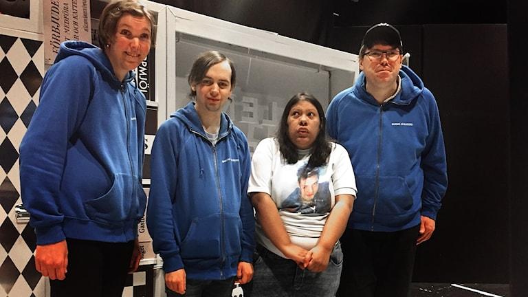 Bild på Johanna Balsjö, Sebastian Bergström, Maria Eurenius och Stefan Åberg