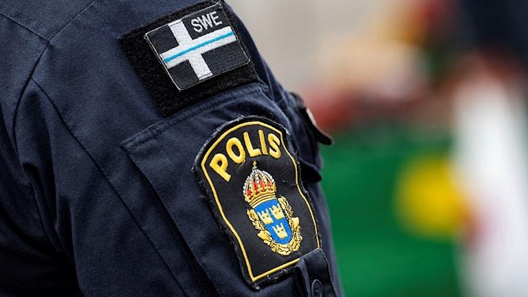 Polis på plats på Möllevångstorget i Malmö.  Foto: Johan Nilsson / TT