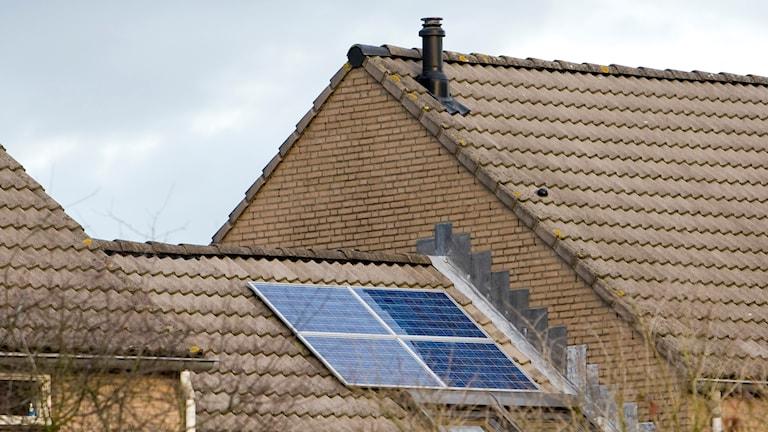 Solceller på hustak