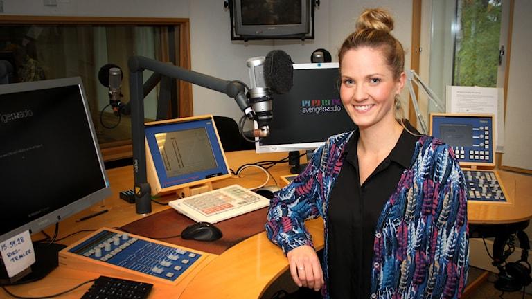 Anna Ulin, programledare P4-toppen.