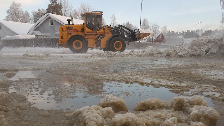 Vattenläcka Östersund vintern 2018