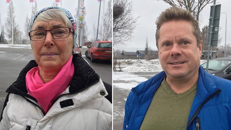 Elisabeth Roos och Tomas Jejlid från Östersund tycker till om att Östersunds FK inte får elitlicens.