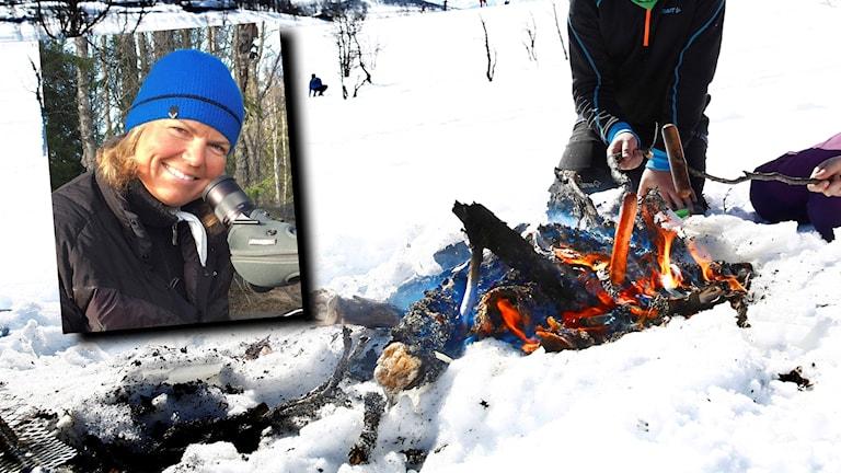 Friluftsinspiratören Wictoria Wadman vet hur man eldar i snö.