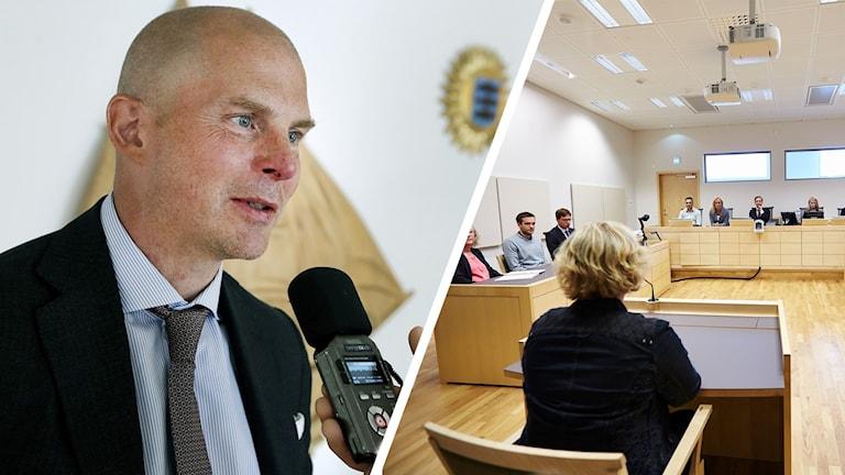 Olof Kullinger och pressbild hovrätten för nedre norrland.
