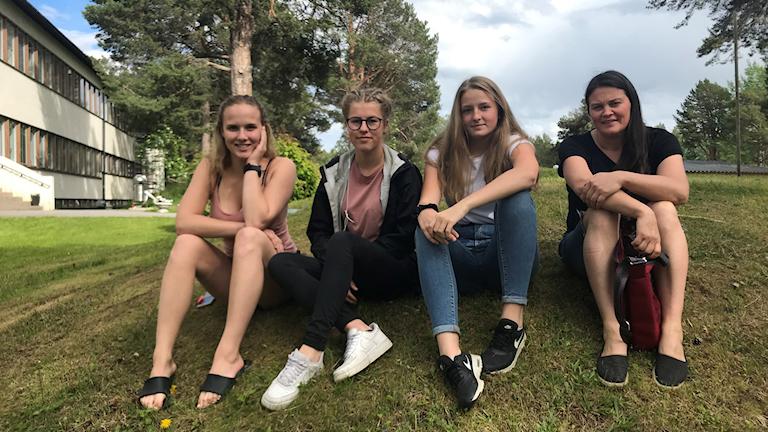Jelena Nääs Frida Liljedahl Alva Eriksson och Maria Wiken,ungdomssamordnare