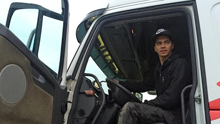 Jimmy Lundvall, lastbilschaufför