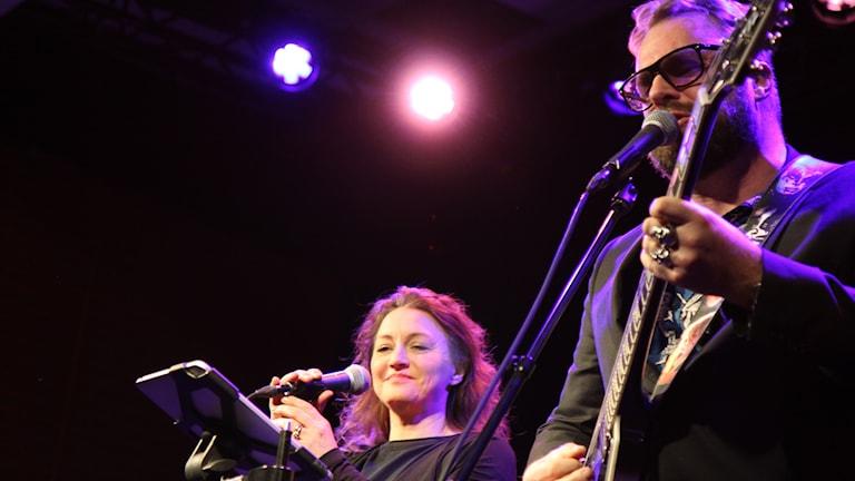 Lena Ljung och Micke Mojo Nilsson.