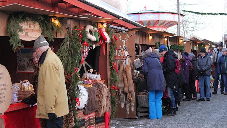 Marknadsstånd på Jamtli Julmarknad