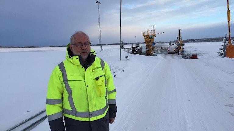 Kjell Eriksson, distriktchef vid Färjerederiet på Storsjön.