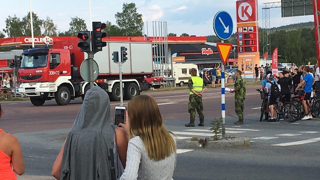 Här anländer den polska konvojen till Sveg.
