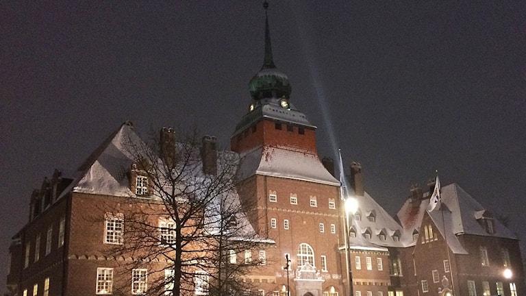 Rådhuset Östersund vintertid