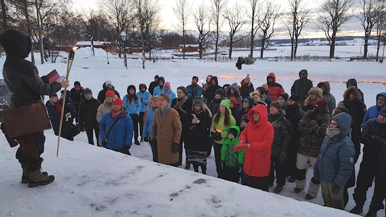 Metoo manifestation i Badhusparken i Östersund.