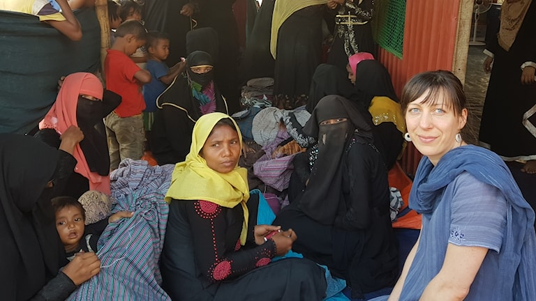 Sara Bergqvist, Erikshjälpens programkoordinator för Sydostasien vid Cox´s Bazar, Bangladesh.