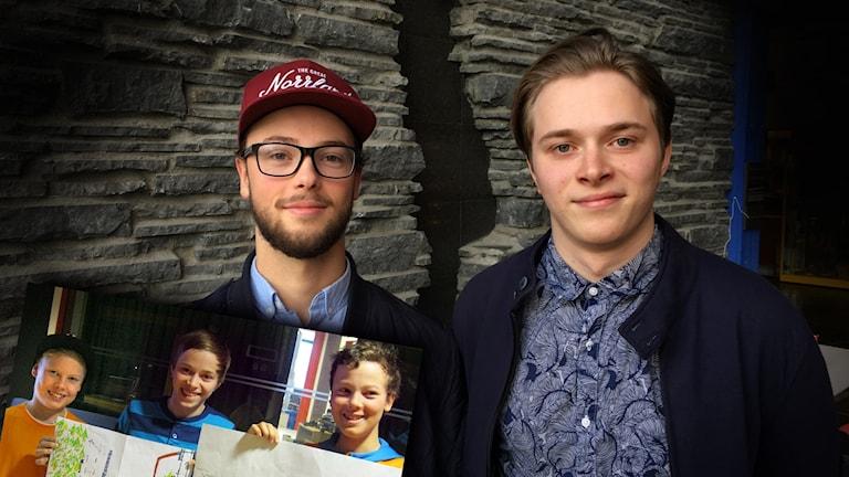 Albin Lindé och Marcus Danielsson, som på den infällda bilden syns tillsammans  med William Myrland.