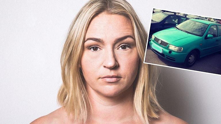 Artisten Anja Erikas nya låt handlar delvis om hennes gamla bil Ärtan.