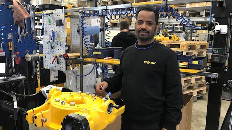 Mebrahtom Afewek, medarbetar på Engcon