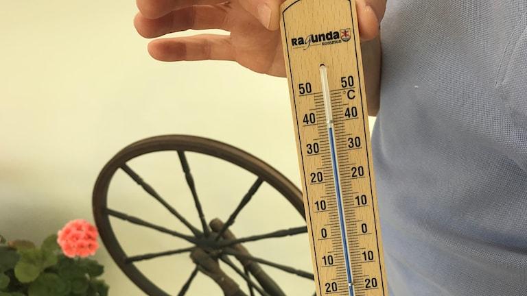 Termometer från Nyviksvägens äldreboende i Hammarstrand