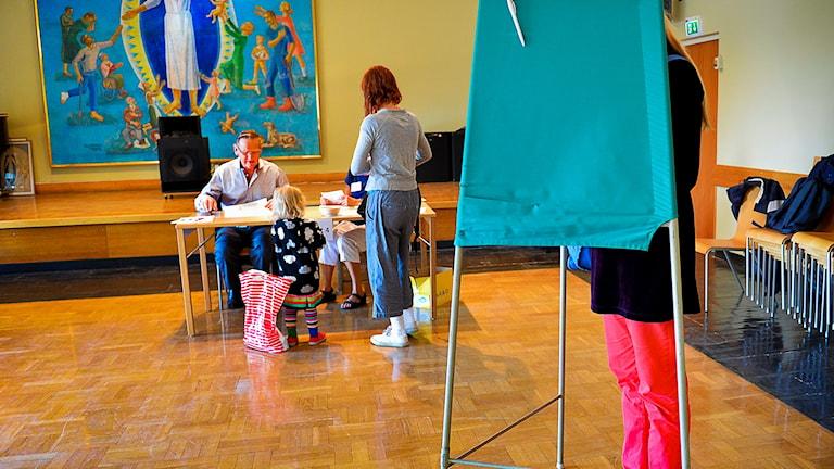 Många röstade i kykovalet under söndagen