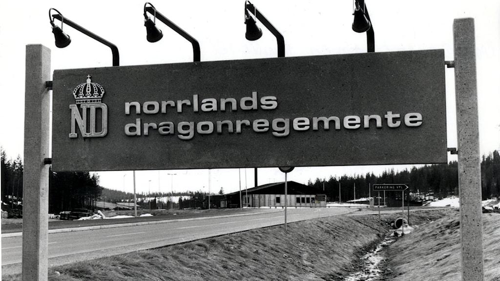Arkivbild. Norrlands dragonregemente, K4 i Arvidsjaur.