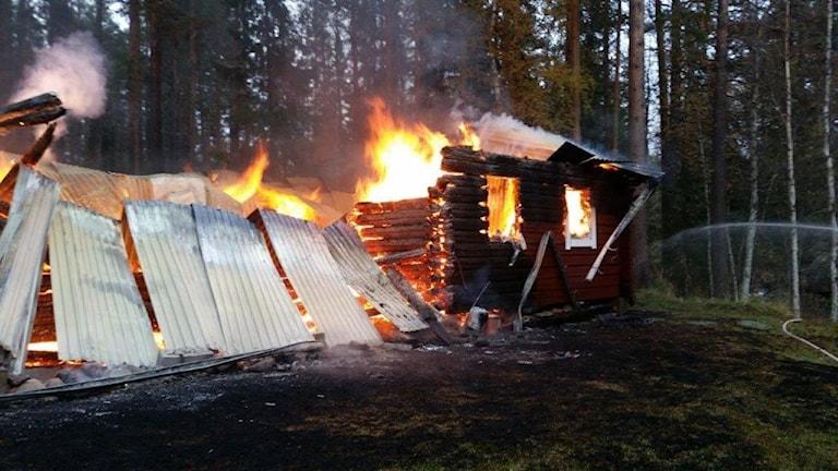 Brand i stuga utanför Sveg