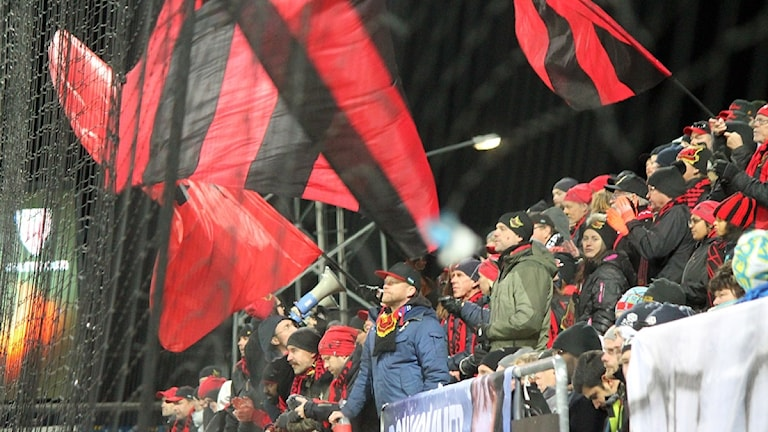 """Östersund supporters """"Falkarna"""" say Arsenal hold no fears."""