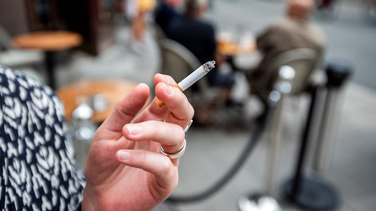 Rökning, rökare, rök, uteservering