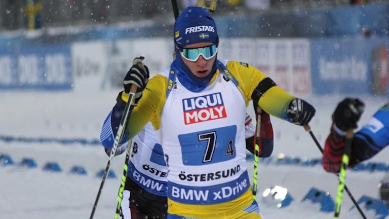 Sebastian Samuelsson på skidskytte-VM i Östersund 2019