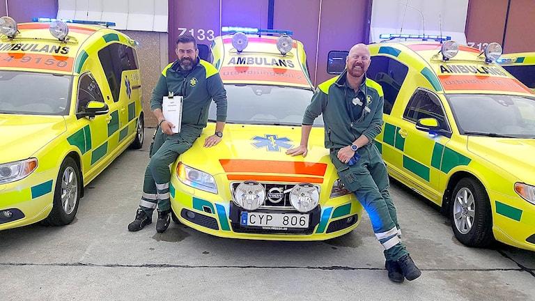 Anders Grönlund, Gustav Carlsund, Ambulans, Region Jämtland Härjedalen, Utbildning.