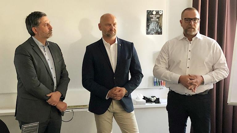 Henrik Moralo, arbetsförmedlingen, Anders Edvinsson, Kommunalråd (s) i Östersund och Östersunds kommundirektör Anders Wennerberg.
