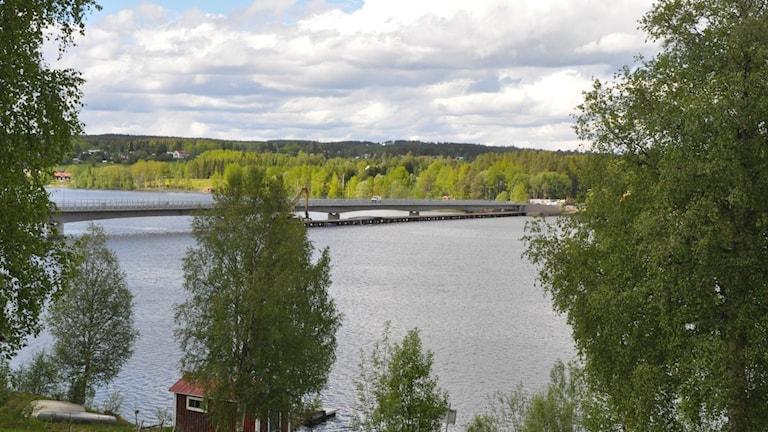 Bild på den nybyggda bron i Lit.