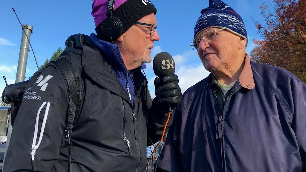 Leif Landin och Ingmar Fredriksson. Foto: Anneli Johansson