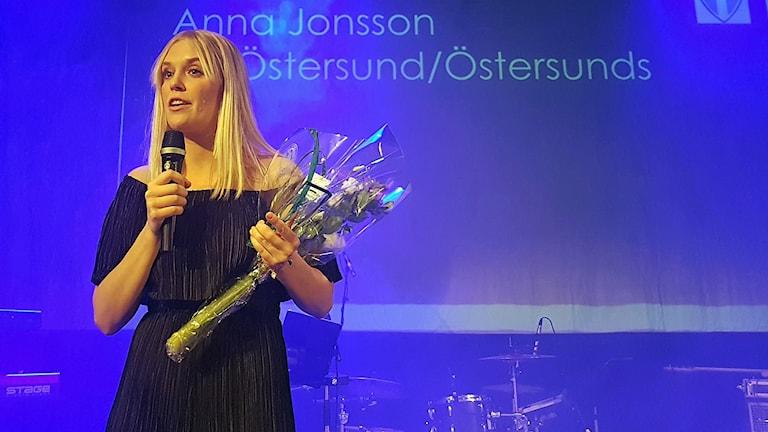 Anna Jonsson, IFK Östersund, Årets damsenior, Fotbollsgalan 171118. Foto: Thord Eric Nilsson.