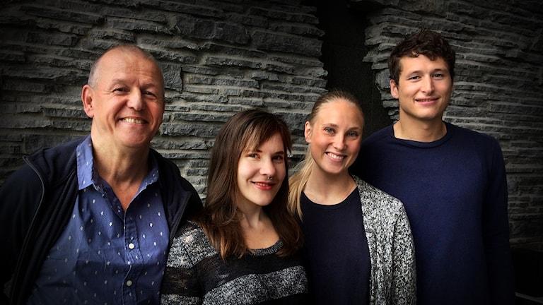Torben Sundqvist, Katja Lindgren-Anttila, Linnie Axelsson och Felix Chougui från Östersunds Teaterverkstad, ÖTV.