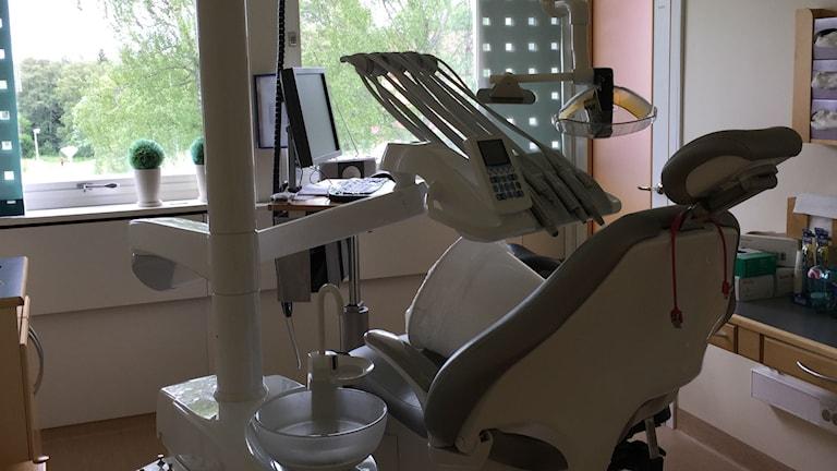 Tandläkarstol på folktandvården.