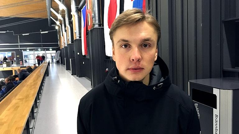 André Sundqvist fick hjärnskakningen under en match när han spelade för Brunflo.