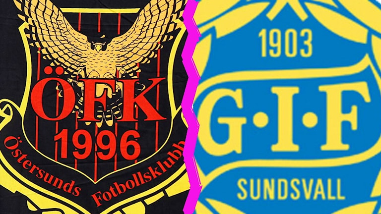 Loggor Östersunds FK / Gif Sundsvall montage