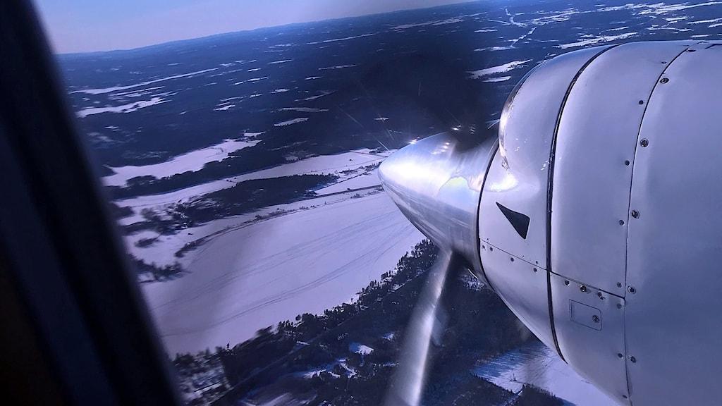 motor på flygplan
