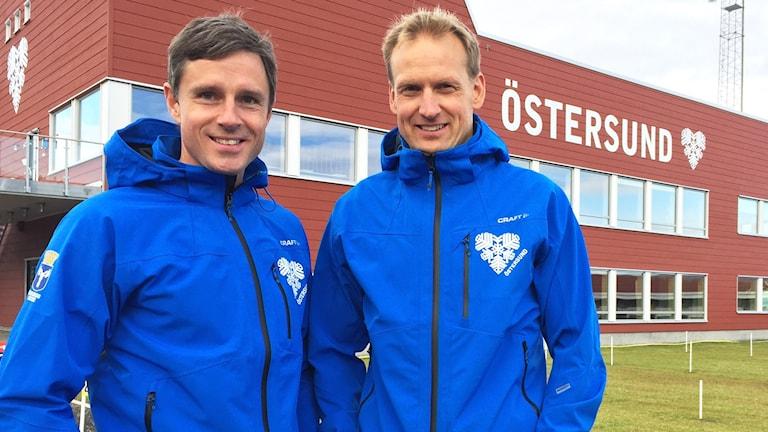 Fredrik Lindberg och Jerry Ahrlin på Östersunds skidstadion