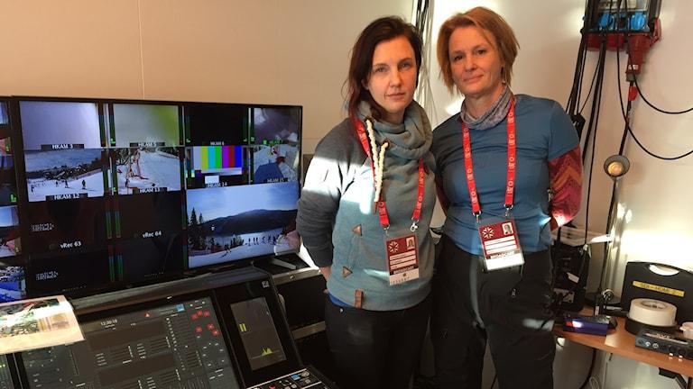 Madelen Ottosson, teknisk producent på SVT och Catharina Gilljam, produktionschef på SVT.