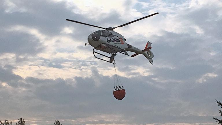 Helikopter utanför Gällö
