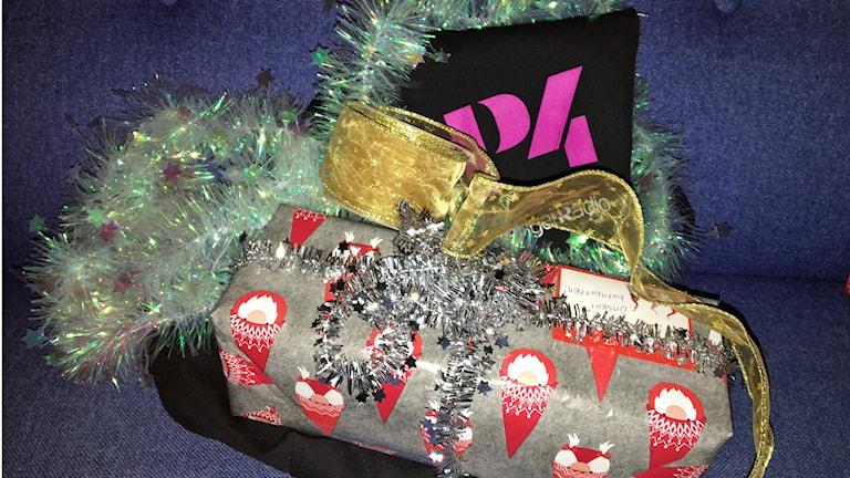 Julklappar och glitter