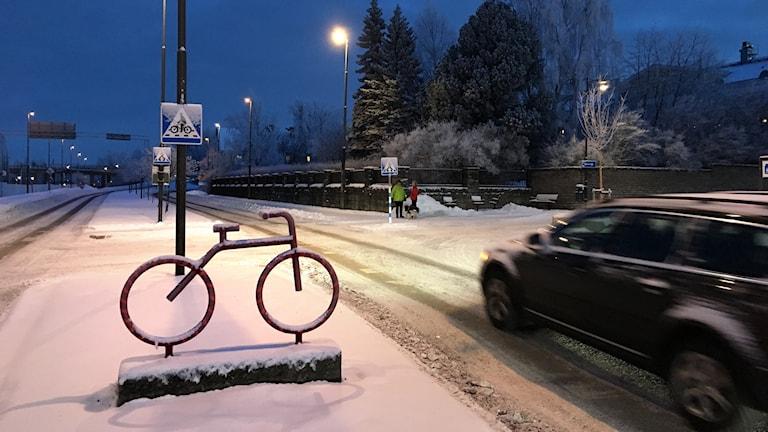 Cykelöverfart och övergångsställe i Östersund