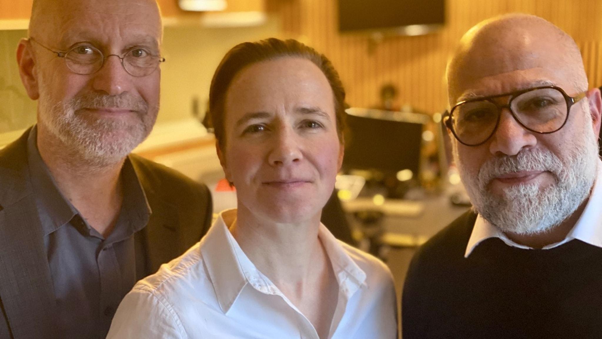 Porträtt av Lars Mogensen, Katharina Berndt Rasmussen och Nazar Akrami.