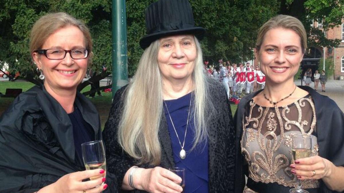 Johanna Gustafsson Lundberg, Marilynne Robinson och Jayne Svenungsson.