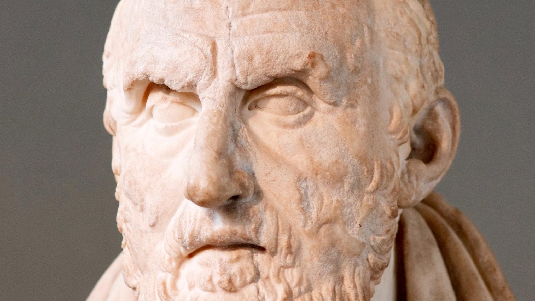 Stoikernas lärofader Chrysippos såg människan som en del av naturen och underkastad skeendena i den. Här är han på British Museum.