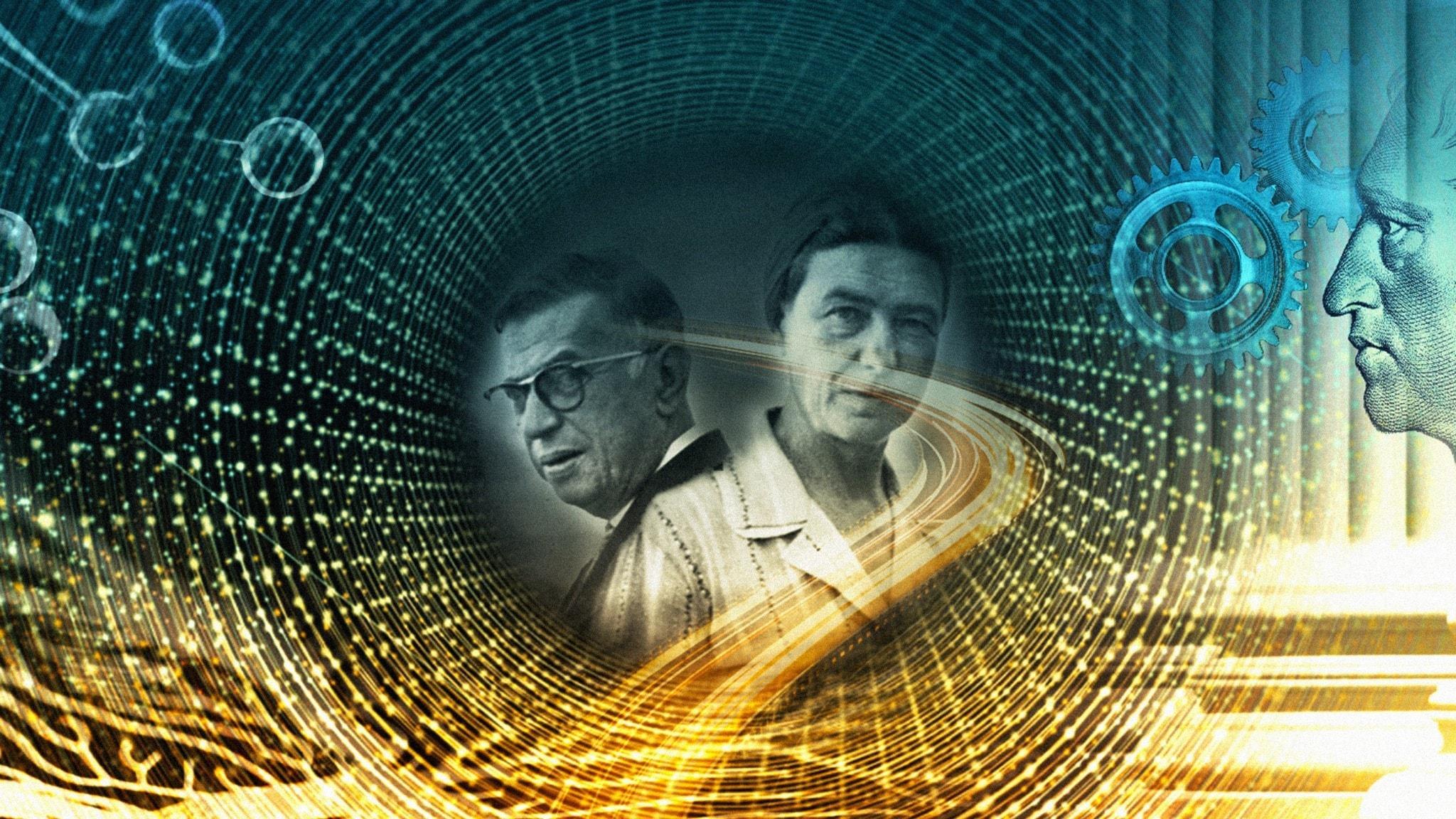 Bild på Jean-Paul Sartre och Simone de Beauvoir
