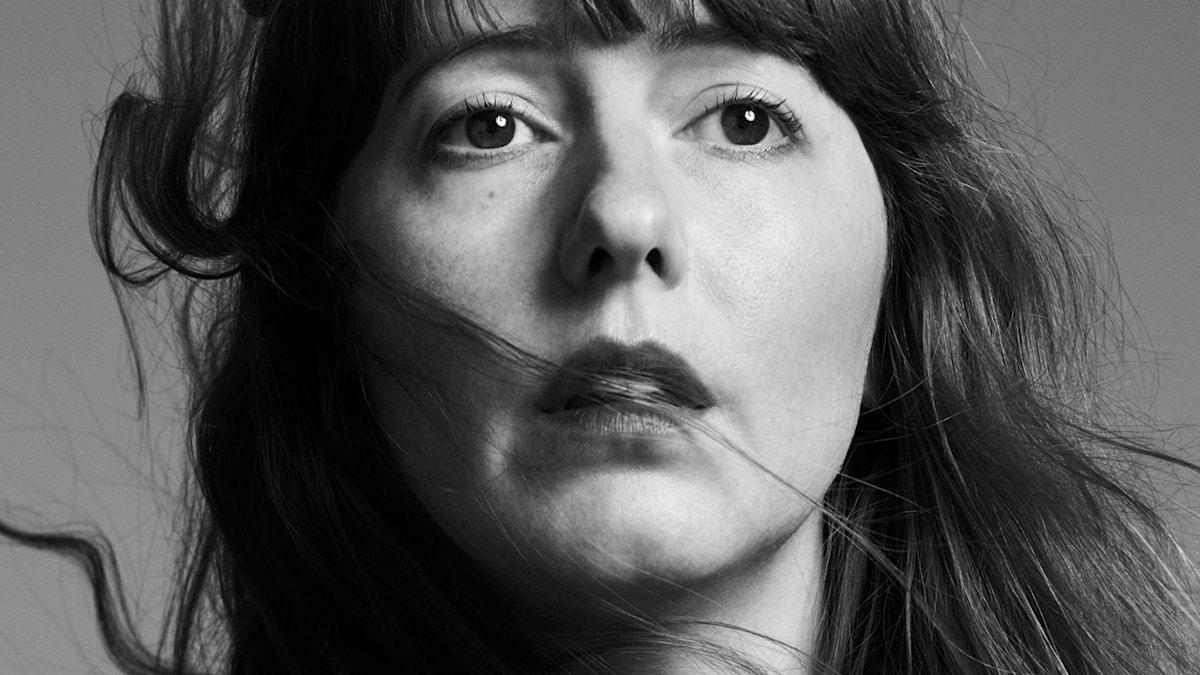 Skådespelaren Sanna Sundquist som Antigone.